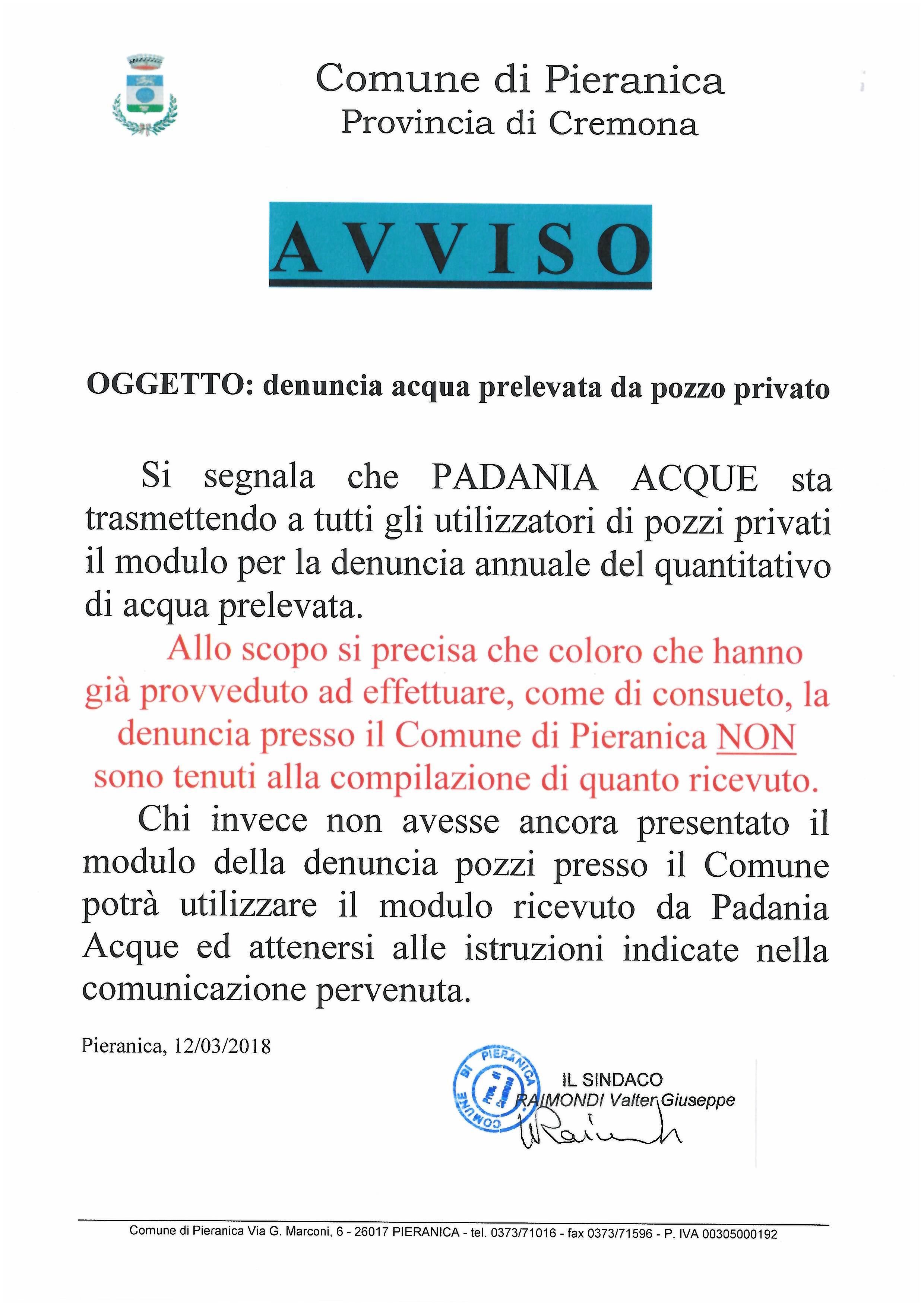 Comune di pieranica for Denuncia redditi 2017 scadenza